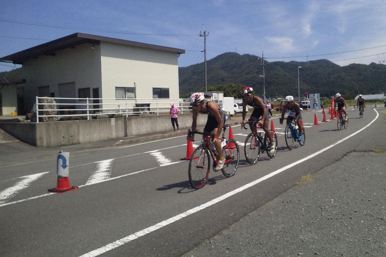 京都丹波トライアスロン in 南丹 自転車競技の様子