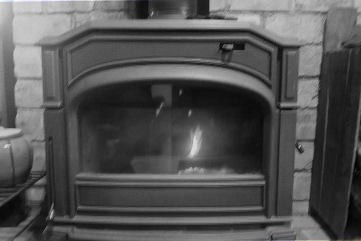火の付かない暖炉