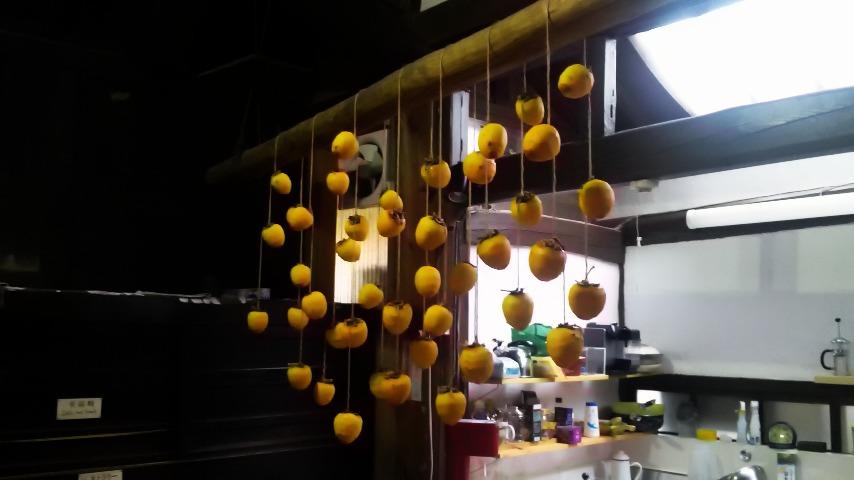 台所の干し柿